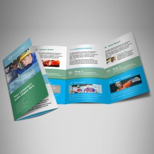 occupational health safety tri fold brochure template 1