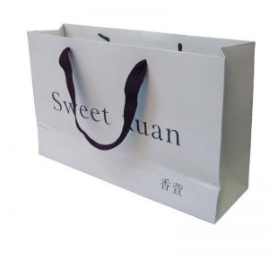 pl12264534 white laminated tote paper shopping bags