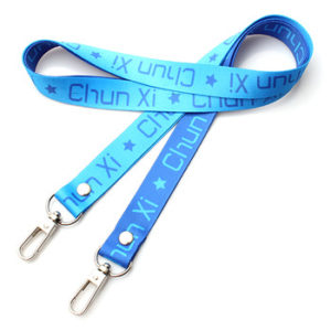 Sublimation print polyester keycord double sided lanyard jpg x
