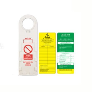 PVC System Scaffold Inspection Tags with Holder